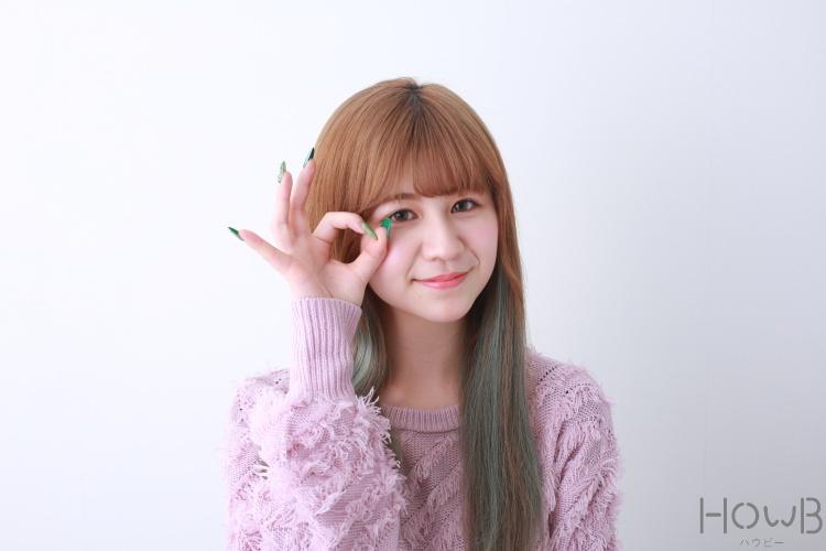 山田麗OKのポーズ