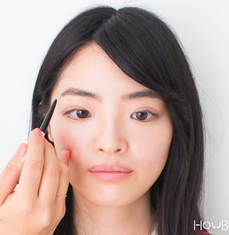 美人顔メイクプロセス アイブロウの描き方