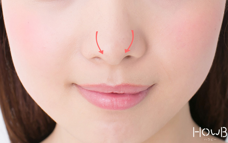 ノーズシャドウのプロセス 小鼻にシャドウをいれる