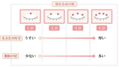 糸を留める数の説明図
