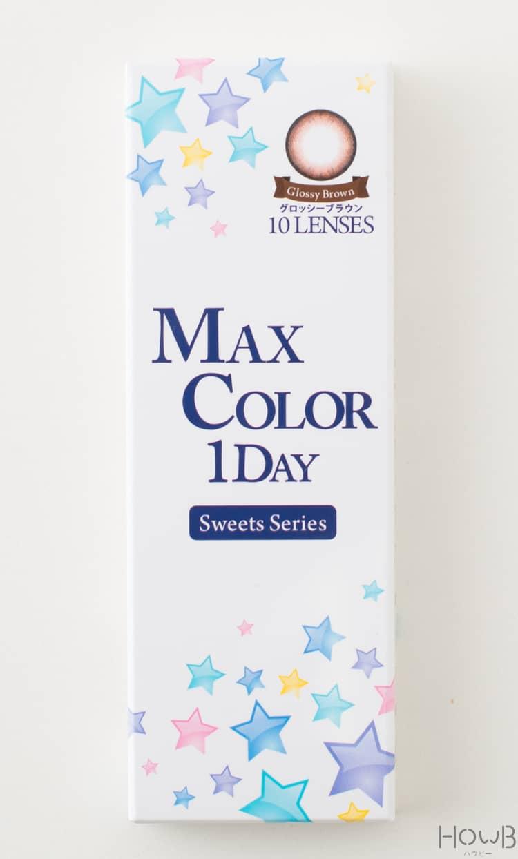マックス・カラー1day スウィーツシリーズ グロッシーブラウン