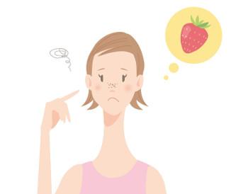 いちご鼻の女の子のイラスト