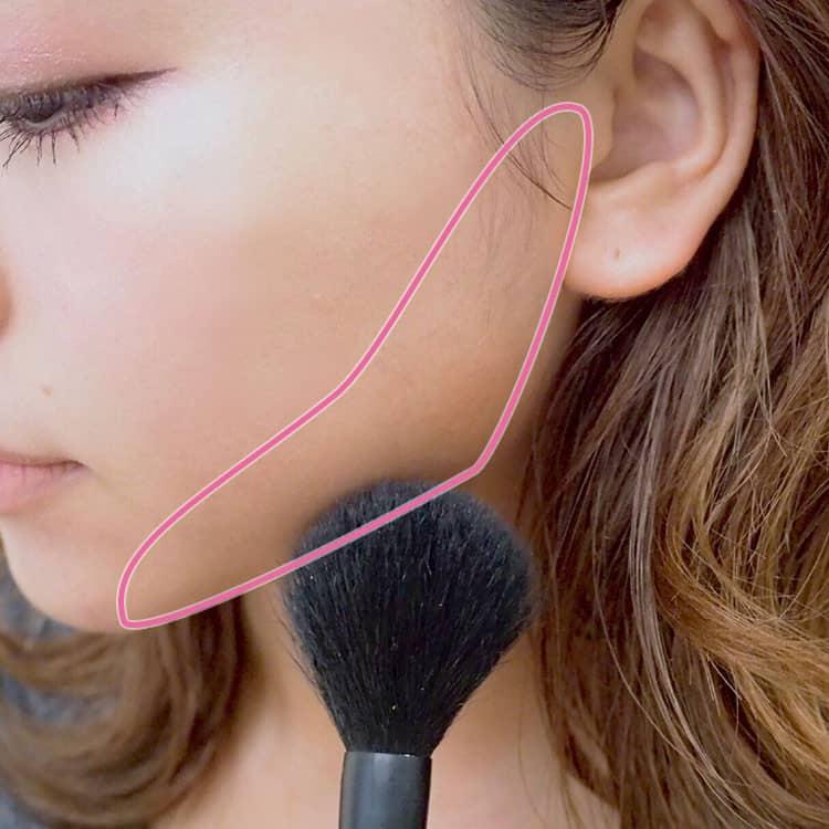 シェーディングのプロセス 顔の形が卵型になるように入れる 顔アップ