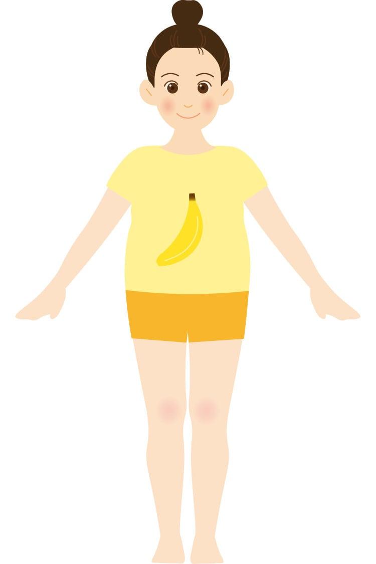 バナナ型体型のイラスト