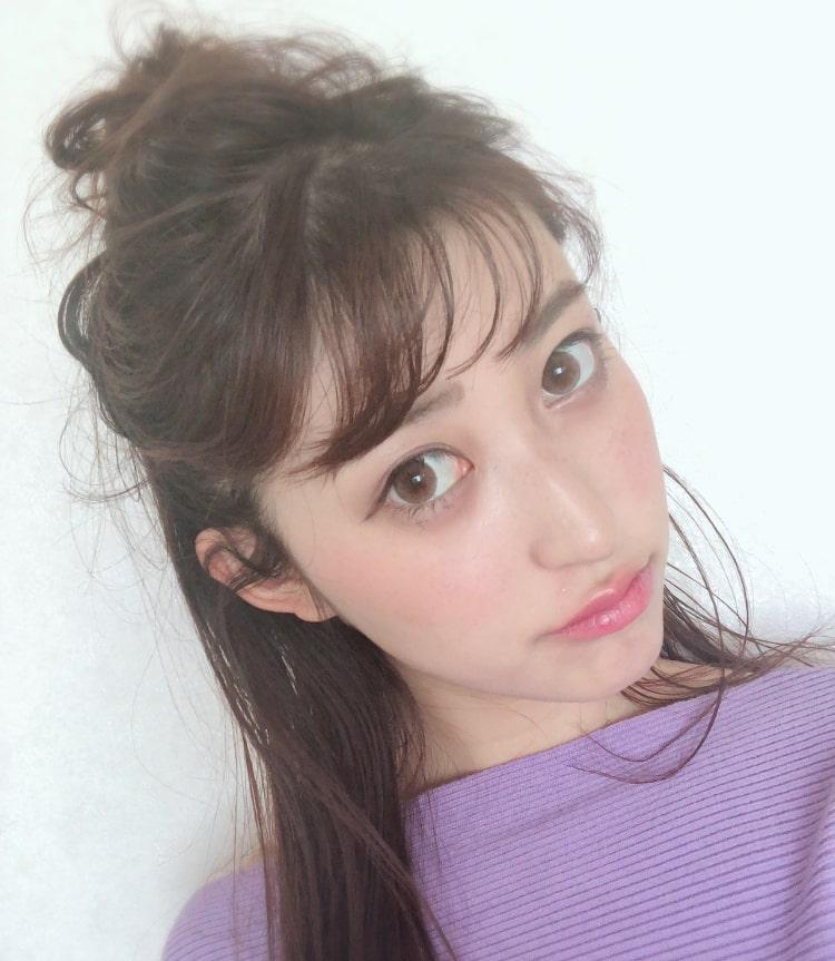 Mamiちゃん ラルムのカラコン着用 顔アップ