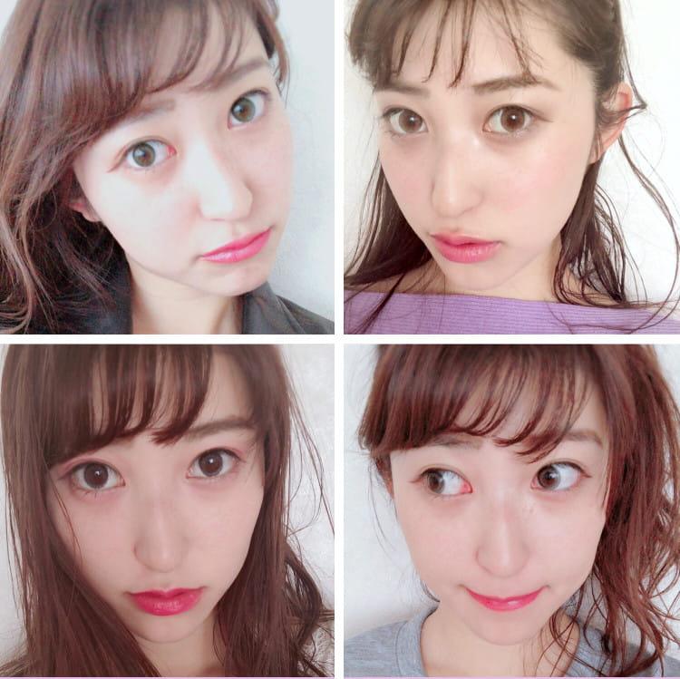 Mamiちゃん4種類のカラコン着用 顔アップ
