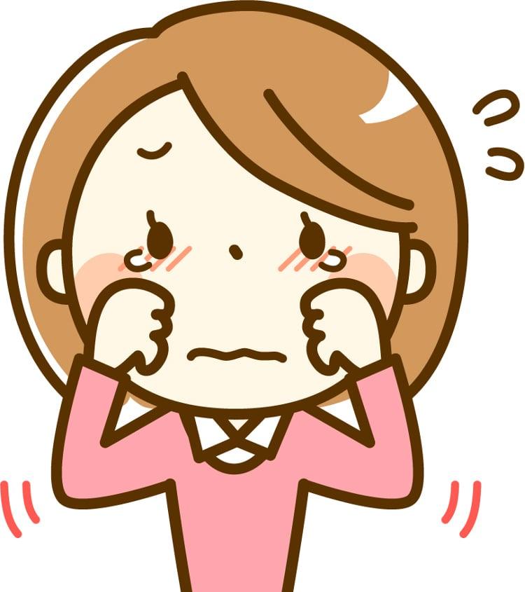 女の子が泣くイラストのイメージ