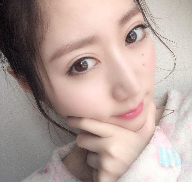 理奈ちゃんのすっぴん風メイク 完成顔
