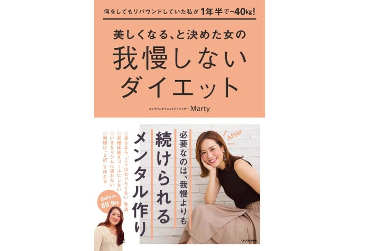 Marty 我慢しないダイエット 書籍