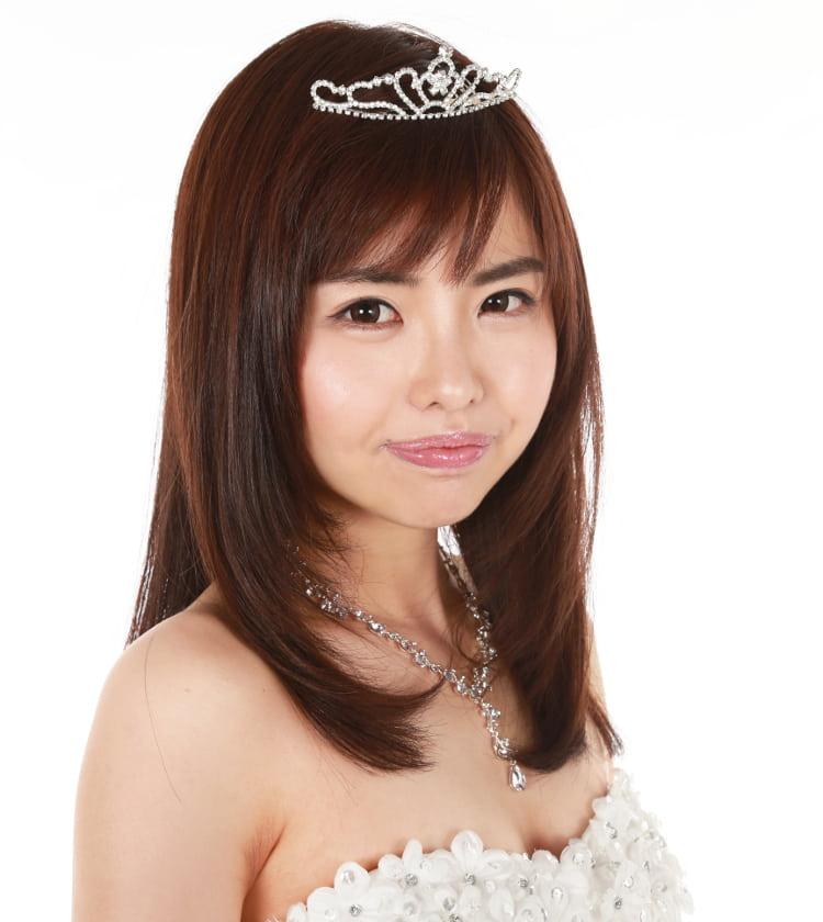 第一回グランプリ 笹野千枝里さんの顔 ドレス姿