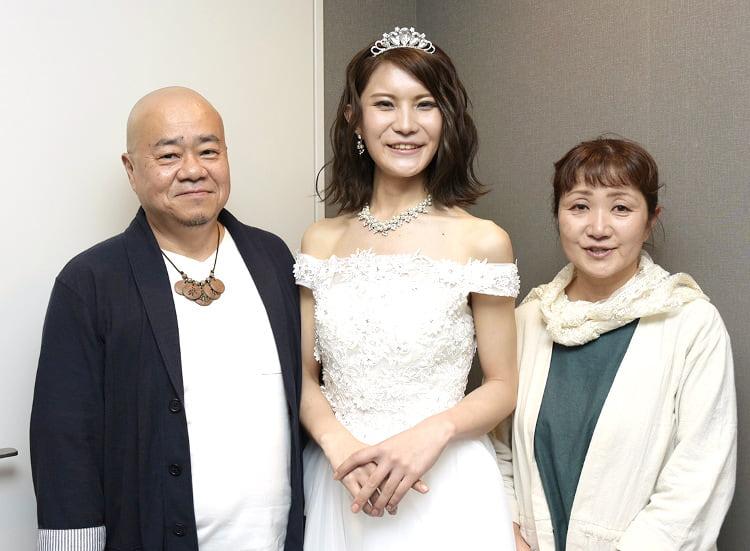 馬場汐音さん 家族と撮影