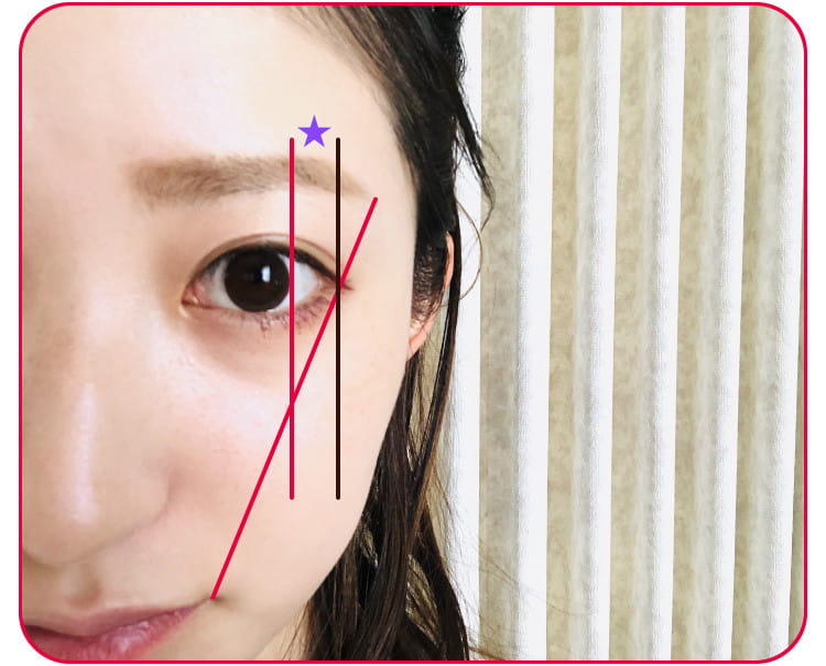 立体小顔メイクのプロセス 眉を描く