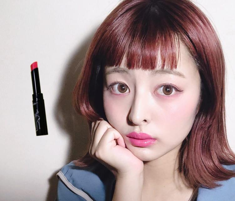 ヴィセ リシェ リップの09 Pink Heelを使用したメイク ゆめ 顔アップ