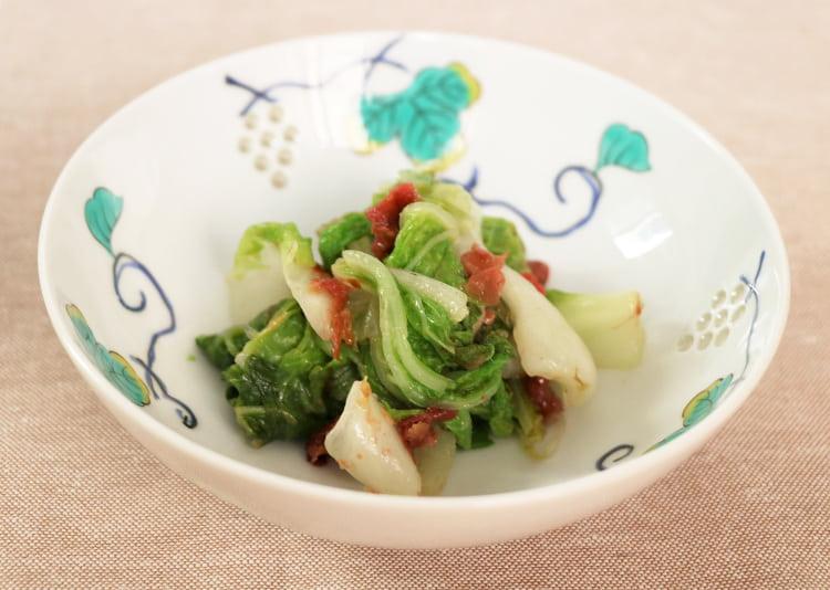 梅おかかドレッシングと白菜の和え物