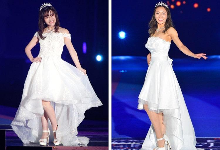 ドレスを着た尾上さんと山田さん
