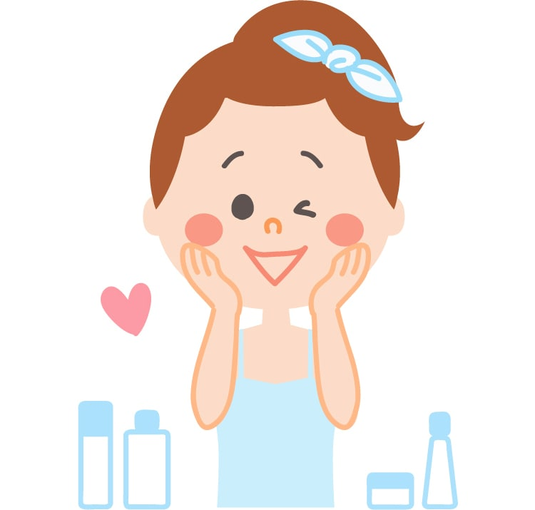 肌の保湿をする女性
