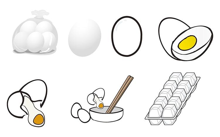 いろいろな卵
