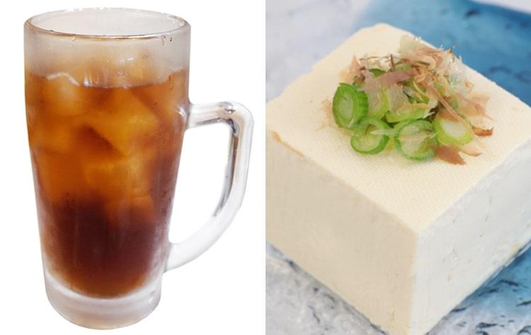 ウーロン茶と豆腐