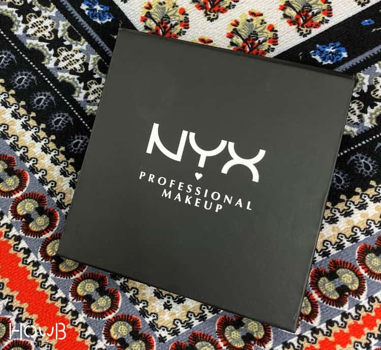 NYXのアイシャドウ パッケージ